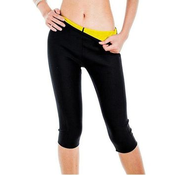 ef04ce81db Womens Slimming Pants Hot Thermo Neoprene Sweat Sauna Body Shapers Fitness  Stretch Control Panties Burne Waist