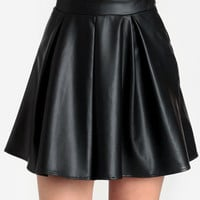 Minion Faux Leather Skirt - $33.00 : ThreadSence, Women's Indie & Bohemian Clothing, Dresses, & Accessories