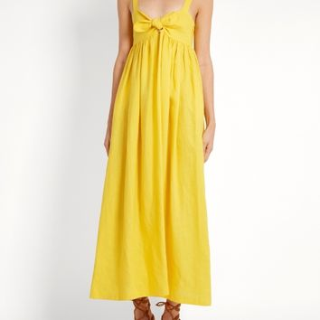 Tie-front midi linen dress | Mara Hoffman | MATCHESFASHION.COM US