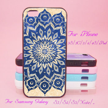 Mandala, Floral,iPod Touch 5,iPad 2/3/4,iPad mini,iPad Air,iPhone 5s/ 5c / 5 /4S/4 , Galaxy S3/S4/S5/S3 mini/S4 mini/S4 active/Note