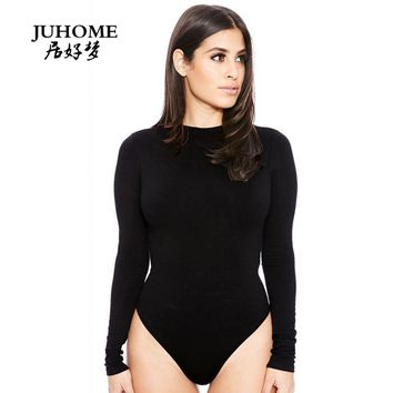 spring Brand Women Skinny Bodysuits Jumpsuits Long Sleeve 13 Colors 2017 New Autumn Bodycon party Romper Fashion Club playsuit