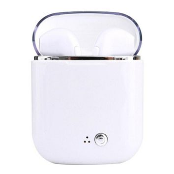 Wireless in ear Earphones Bluetooth Headset i7 I7s TWS Stereo Music Earbuds With Mic For iPhone 6 7 8 Samsung S8 Xiaomi Huawei White add charge box