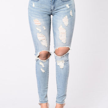 Dead Wrong Jeans - Medium Blue