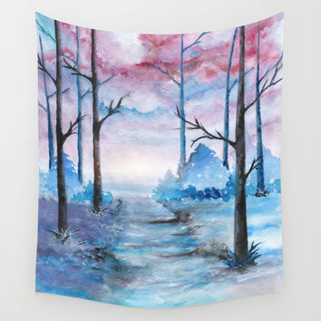 Into The Forest IV Wall Tapestry by Marco Gonzalez