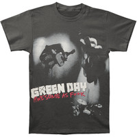 Green Day Men's  Awesome As F**k T-shirt Black Rockabilia