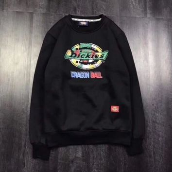 Dickies Fashion Print Scoop Neck Top Sweater Pullover