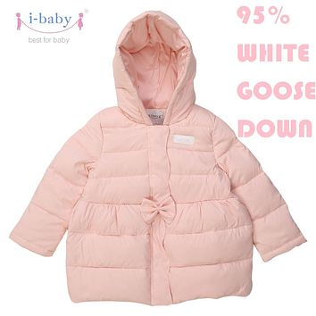 i-baby Outlast Kids Prolonged Outwear Baby Cozy Down Coat Puffer Jacket with double Layers Filling for Winter