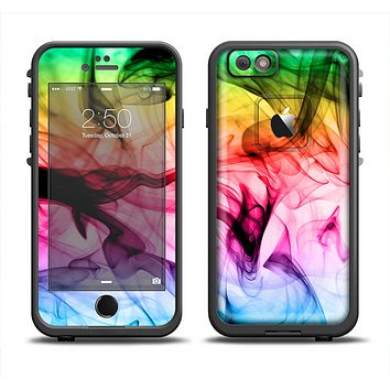 The Neon Glowing Fumes Skin Set for the Apple iPhone 6 LifeProof Fre Case