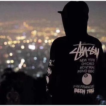Stussy Fashion Casual Loose Hooded Top Sweater Pullover