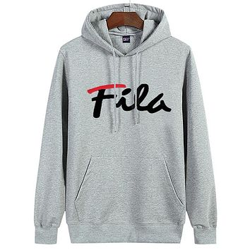 Trendsetter  Fila Women Man  Fashion Cotton  Long Sleeve  Top Sweater Hoodie