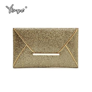 YBYT brand 2018 new fashion vintage sequined women envelope clutch hotsale ladies cell phone coin purses socialite evening bags