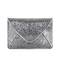 Glitter Envelope Clutch in Silver