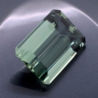 Green Amethyst: 23.41ct Emerald Shape Gemstone