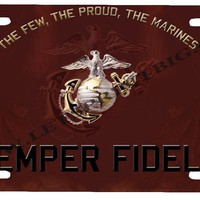 USMC Marines-License Plate Car Tag