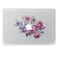 Beautiful purple bouquet Vinyl Decal Notebook sticker on Laptop Sticker For DIY Macbook Pro Air 11 13 15 inch Laptop Skin