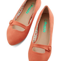 ModCloth Minimal Morning Amour Flat in Clementine