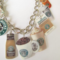 Starbucks COFFEE  charm Bracelet--