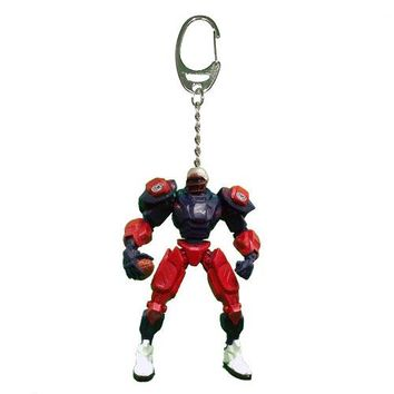 New England Patriots Keychain Fox Robot 3 Inch Mini Cleats