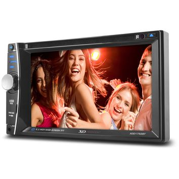 """XO Vision XOD1752BT In-Dash 6.2"""" Touch Screen Multimedia DVD Receiver with Bluetooth"""
