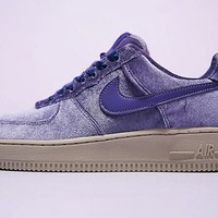 "Nike Air Force 1 '07 Low Velvet Sneaker ""Purple""849345-401"