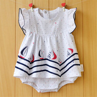 2017 Baby Rompers Summer Baby Girls Clothing Sets Cute Newborn Baby Clothes Toddler Baby Girl Clothes Roupa Infant Jumpsuits