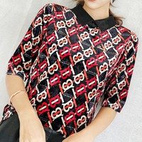 Burberry New fashion more letter print women velvet top