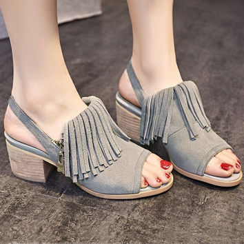 2016 new fashion elegant thick heel sandal for summer casual = 4777303684