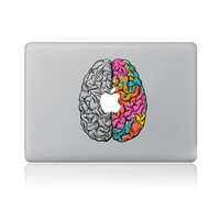 The division of the brain Vinyl Decal Laptop Sticker for macbook Pro Air 13 inch Cartoon laptop Skin shell for mac book