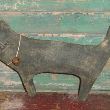 Extreme Primitive Black Cat - Rustic Home - Autumn Decor - Primitive Fall Decor - Primitive Halloween Cat