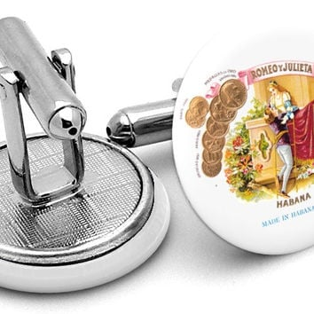 Romeo y Julieta Cigars Cufflinks