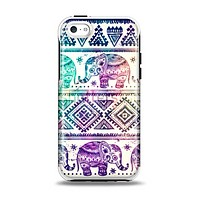 The Tie-Dyed Aztec Elephant Pattern Apple iPhone 5c Otterbox Symmetry Case Skin Set
