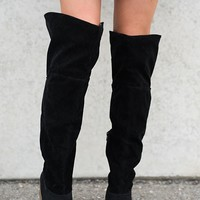 Joplin Knee High Boots (Black)