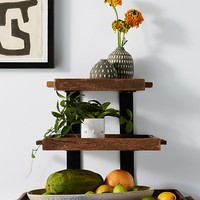 Reclaimed Wood Tiered Stand