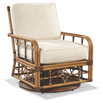 Mimi Swivel Glider Lounge Chair, Canvas, Outdoor Club Chairs