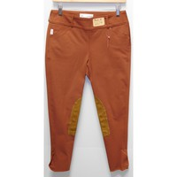 TS 1967 Rust w/Tan Knee Patch Low Rise Front Zip Breech