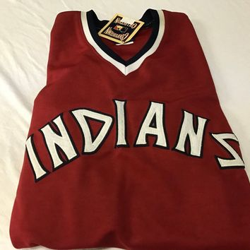 BRAND NEW FRANK ROBINSON #20 RETRO CLEVELAND INDIANS RED PULLOVER MAJESTIC JERSE
