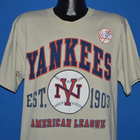 90s New York Yankees  Puffy Paint Deadstock t-shirt Large