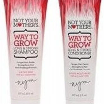 Not Your Mother's Way To Grow Long and Strong Shampoo 8 oz. + 8 oz. Conditioner (Combo Deal)