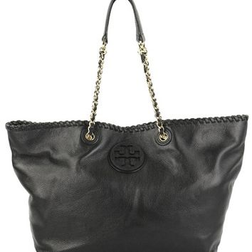 Tory Burch Marion Chain Black Tote Bag 64% off retail