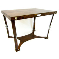 Spiderlegs CP3042-DW Hand Crafted & Custom Finished Picnic Folding Table in Dark Walnut