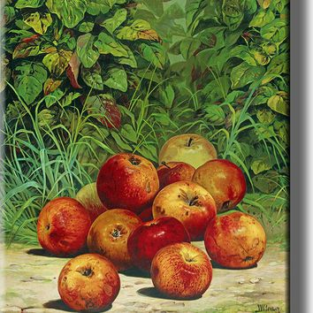 Apples Painting Picture Made on Acrylic Wall Art Decor Ready to Hang!.