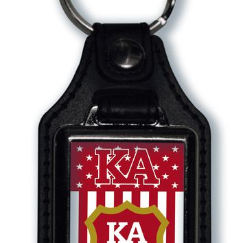 Kappa Alpha Order US Flag Style Licensed Greek Life Keychain
