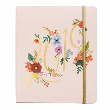 RIFLE PAPER CO. 2019 BOUQUET CLASSIC COVERED SPIRAL PLANNER