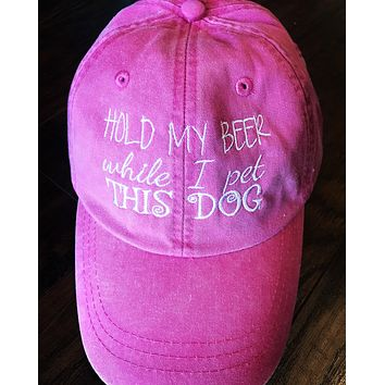 Hold my beer while I pet this dog Hat