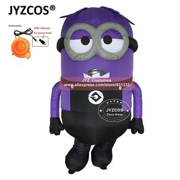 JYZCOS Inflatable Minion Halloween Costumes for Adult Despicable Me 2 Anime Cosplay Blow Up Mascot Purim Fancy Dress Cartoon