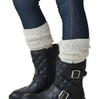 Girls Lil Carley Boot Sock, Oatmeal