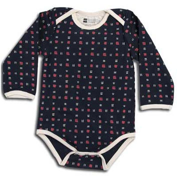 Organic Snap Body Suit, Long Sleeve- Sparrow