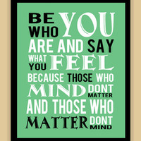 Dr Suess Childrens Be who you are modern print poster 8x10