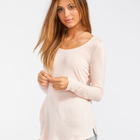 Full Tilt Favorite Womens Tee Light Pink  In Sizes