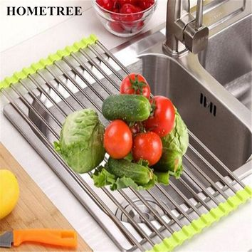 Multifunction Folding Stainless Steel Drain Rack